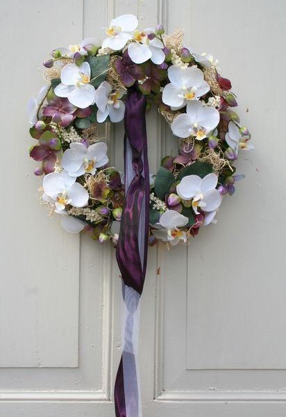 Turkranz Orchidee Hortensien Seidenblumen 35 Cm Von Fr