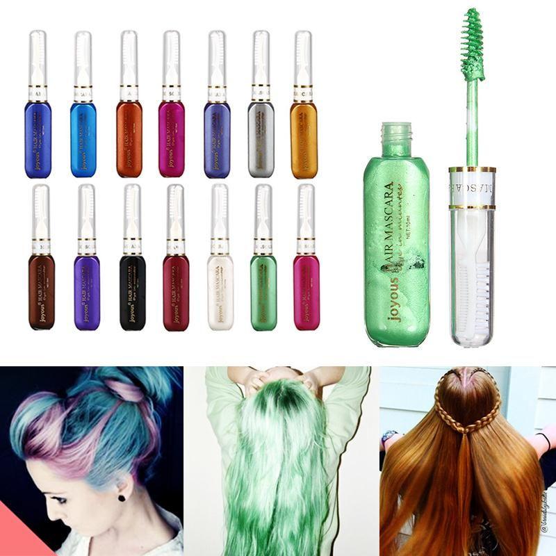 1pcs Temporary Colorful Hair Mascara Non Toxic Hair Color Dye Salon Silver Gray Hair Dye Colors Hair Mascara Hair Care And Styling