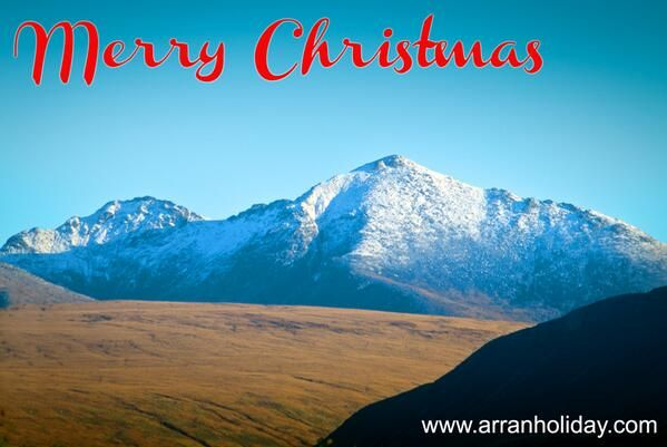 Christmas snow on fells of the Isle of Arran http://arranholiday.com Green Brae Barn (ArranHoliday) on Twitter