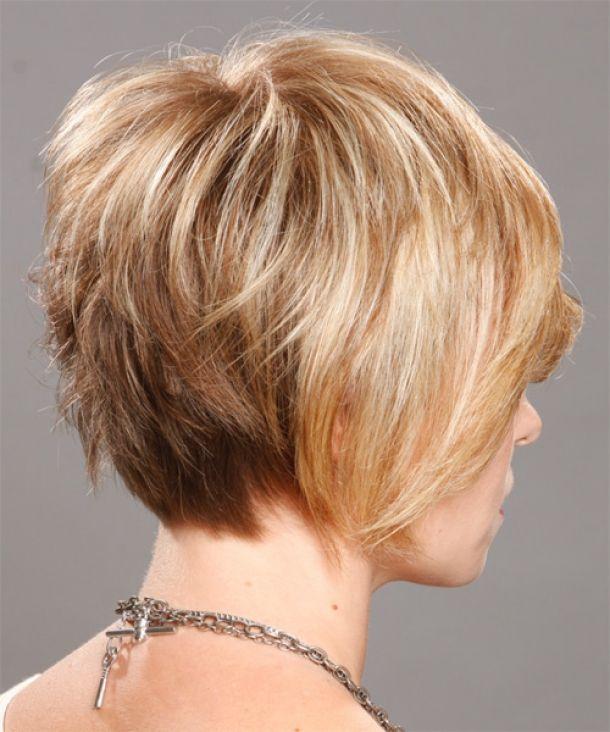 Mediumshorthairstylesforwomen  short haircuts back view for