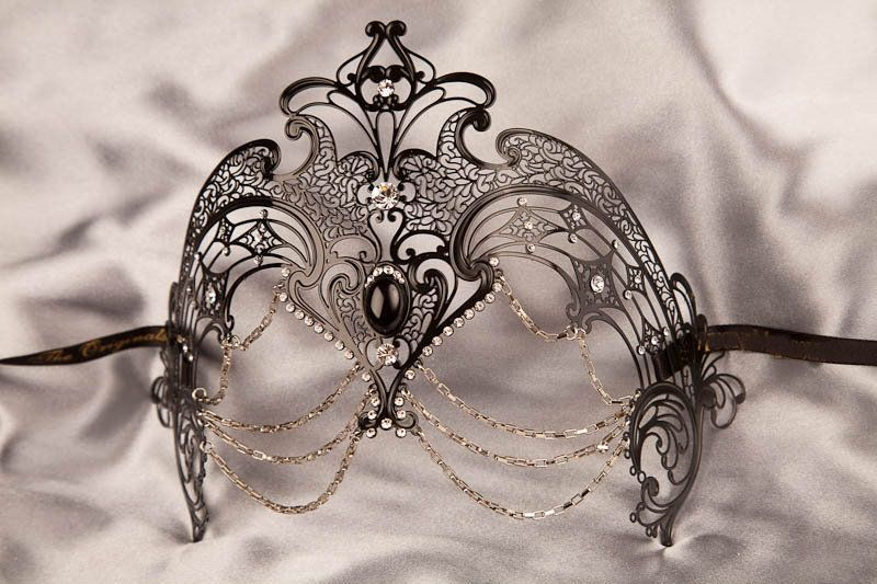 Luxury Venetian Filigree Metal Masquerade Mask - CORONA £85