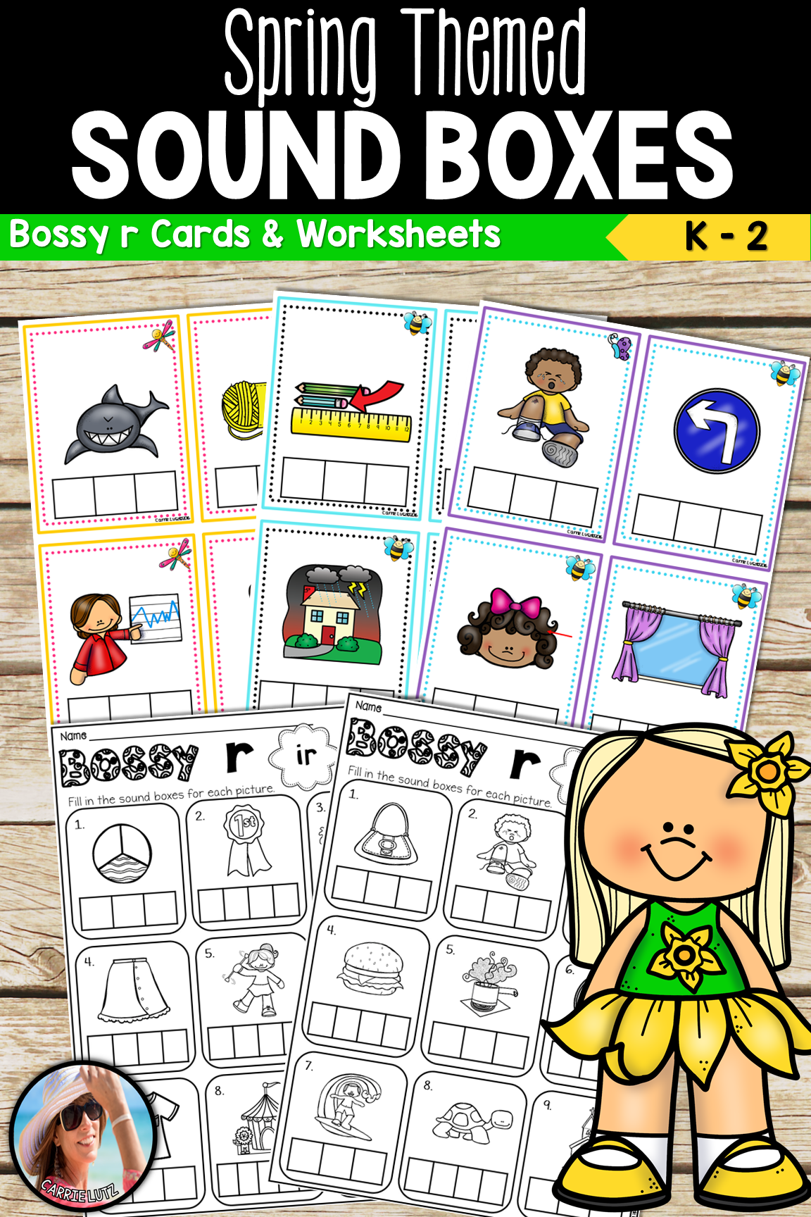 Sound Boxes Bossy R With Practice Pages Spring Theme