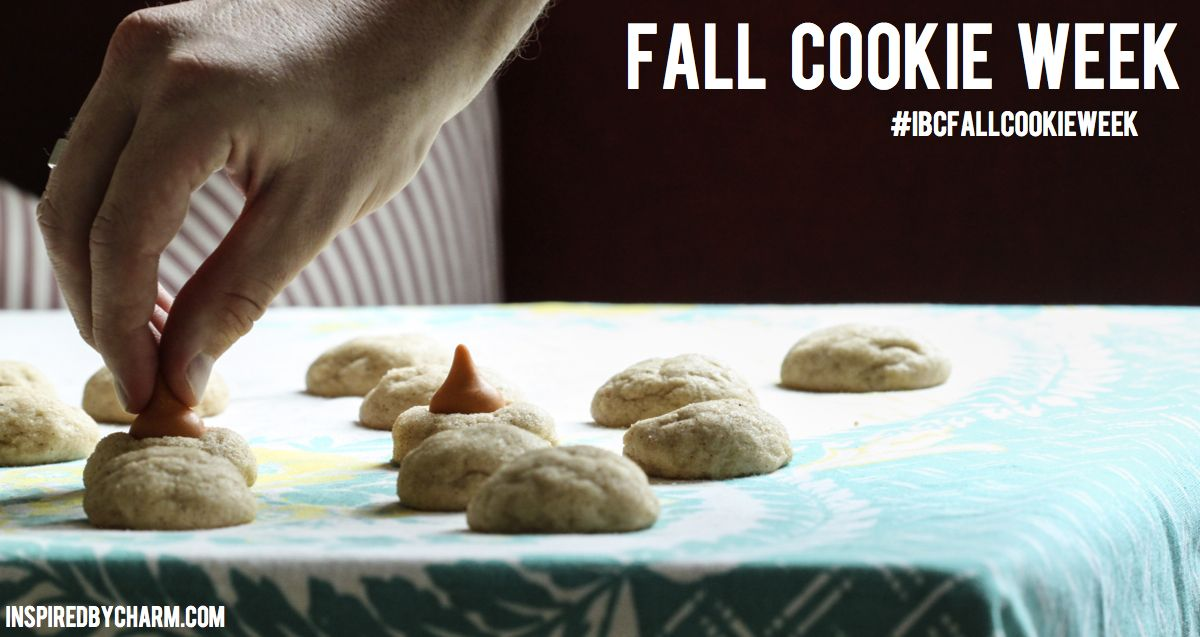 Tomorrow begins Fall Cookie Week on Inspired by Charm!