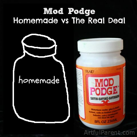 Homemade mod podge vs the real deal which works for Mod podge recipe