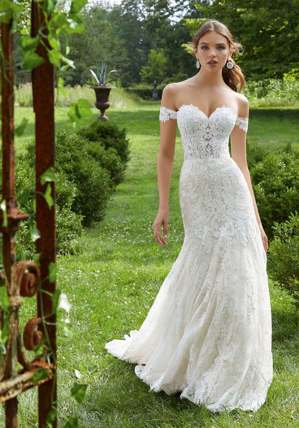 Mori Lee 5714 Paradisa Sweetheart Neckline Bridal Dress Lace Mermaid Wedding Dress Fit And Flare Wedding Dress Wedding Dresses [ 1400 x 976 Pixel ]