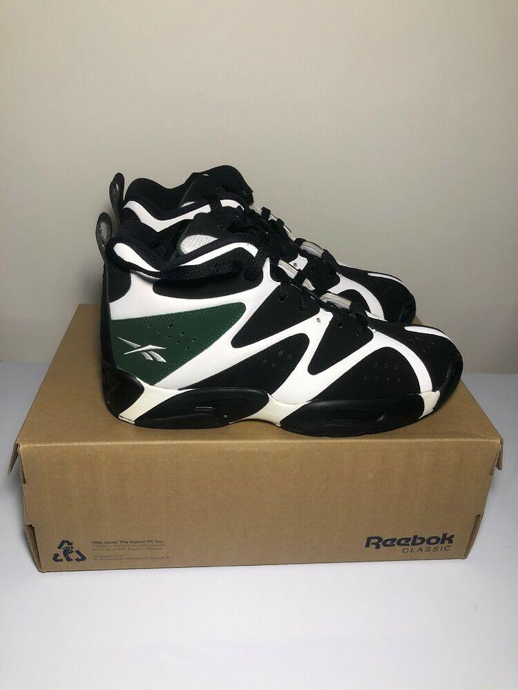 b0fe3dcd Men s Reebok Kamikaze 1 Mid Super Sonics SHAWN KEMP Racing Green V60363  Size 9