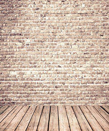 5x7ft Retro Brick Photographic Background Gray Wood Floor Backdrop for Newborn Photography Photo