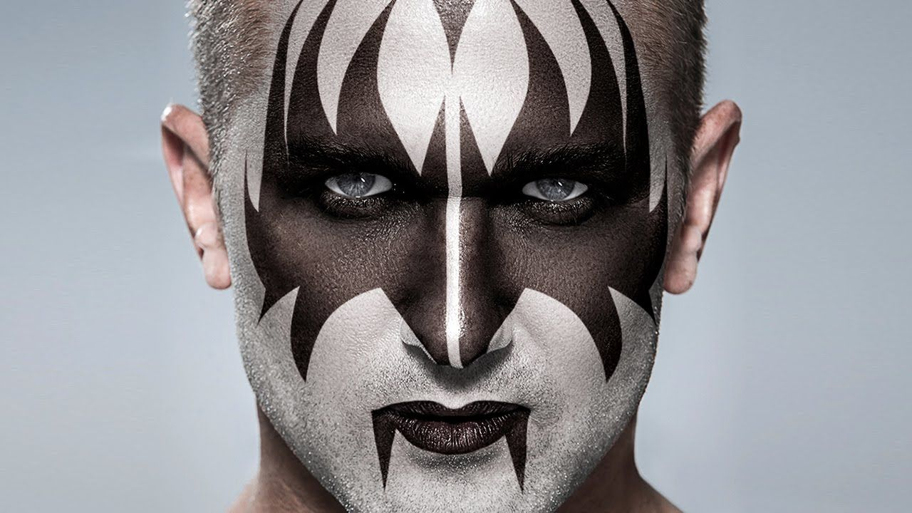 Kiss Apply Gene Simmons Makeup To A Photo In Photoshop Gene
