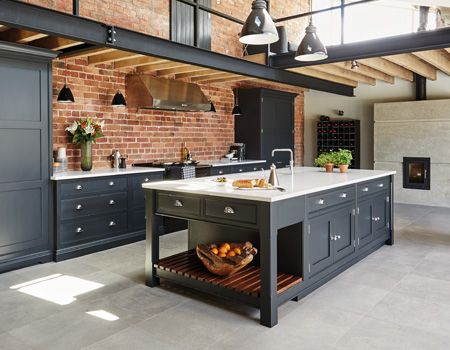 industrial style kitchen industrial and loft living pinterest k che haus renovieren und. Black Bedroom Furniture Sets. Home Design Ideas