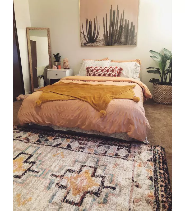 indoor geometric shag woven rug  opalhouse in 2020  home