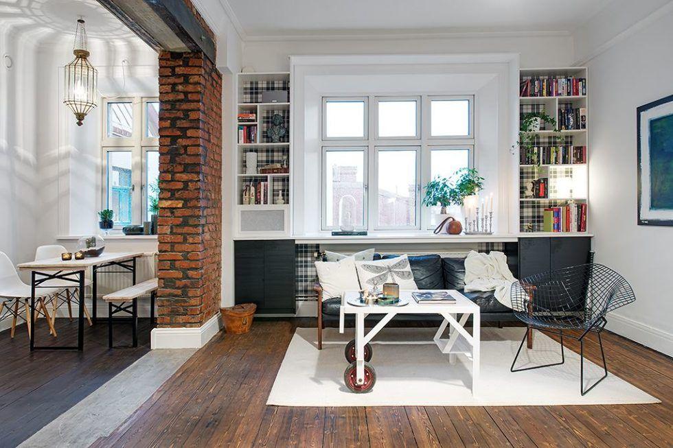 The Delightful Design Of Studio Flat Scandinavian Style Living Room And Kitchen 980x654 980x653