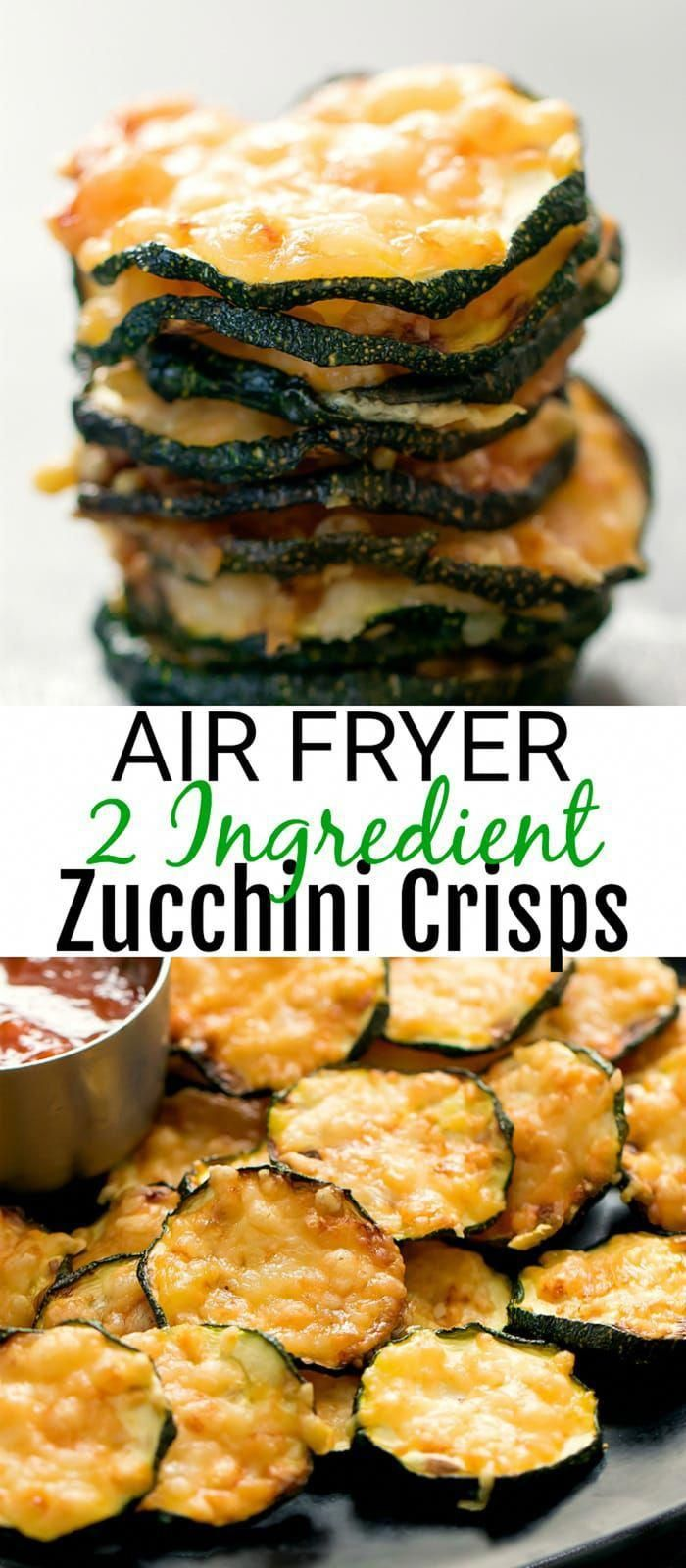 Air Fryer 2 Ingredient Parmesan Zucchini Crisps -   19 air fryer recipes easy ideas
