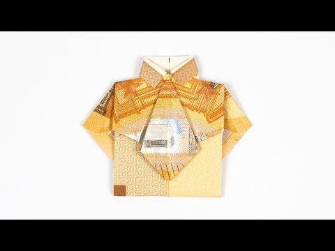 Ein Hemd Mit Krawatte Aus Einem Geldschein Falten Einfache Diy