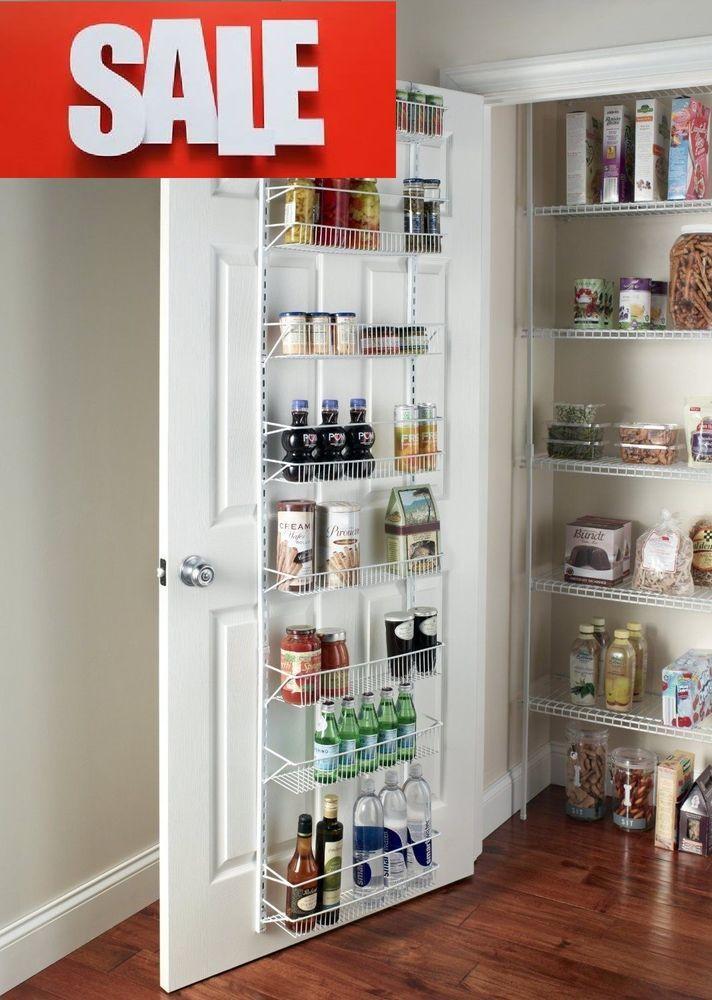 Kitchen Pantry Storage Space Organization Adjustable Rack 8-Tier Wall Door Mount in Home & Garden, Kitchen, Dining & Bar, Kitchen Storage & Organization | eBay