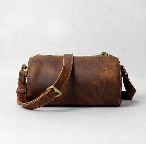 Mens Leather Bag, Mens Shoulder Bag, Small Leather Bag, Travel Bag ...