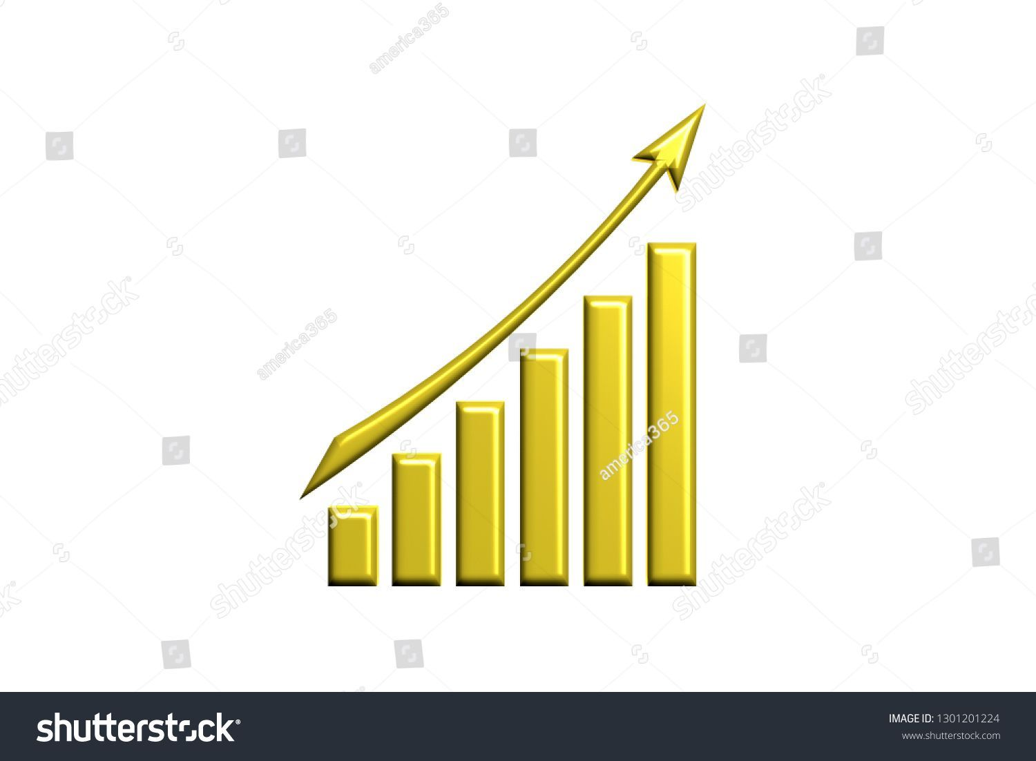 Finance Rising Up Logo Gold Style 3d Render Illustration Finance Business Bar Graph Chart Growth Success Fi Gold Style Finance Credit Card Companies