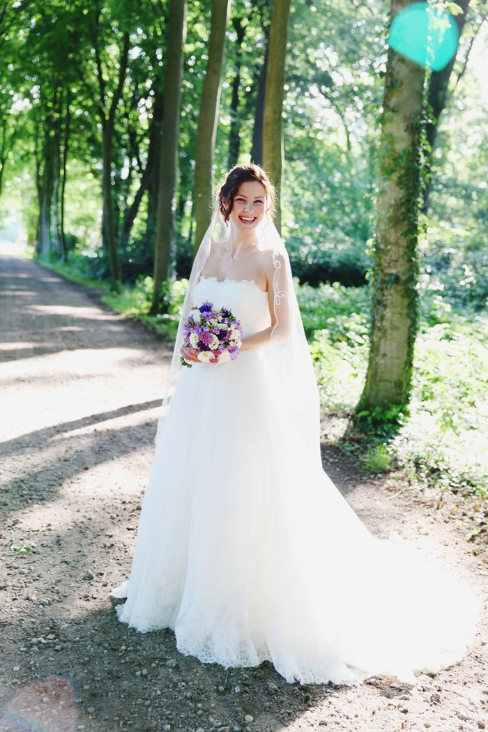 Stralende bruid!