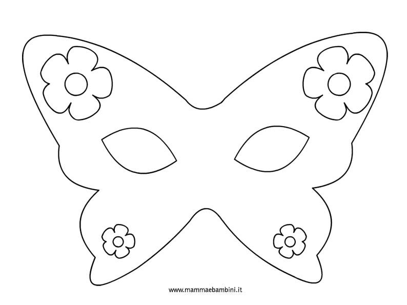 Farfalla Maschere Piatto Di Carta Maschere Carnevale