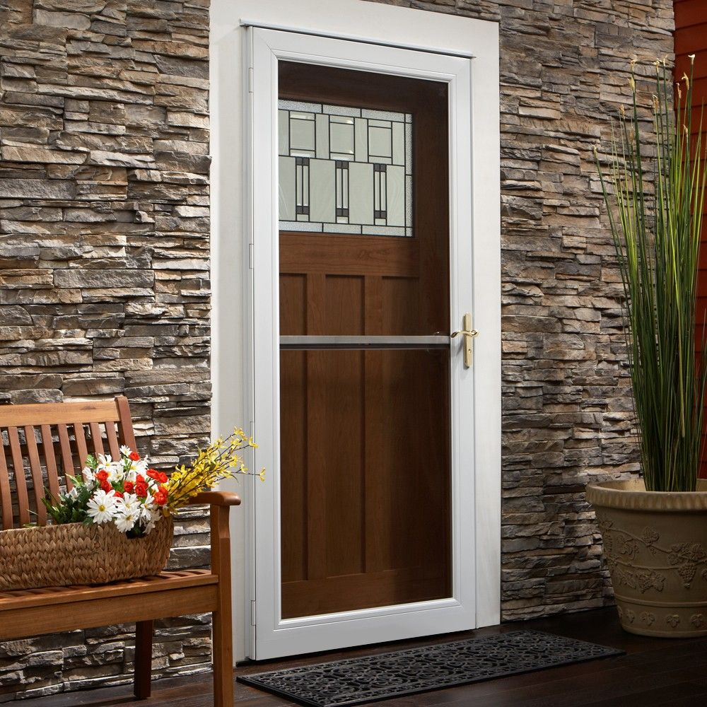 Portrait of unique home designs screen doors buying guide for Front door with storm door