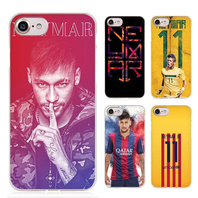 jr neymar clear cell phone case cover for apple iphone 4 4s 5 5s se 5c 6 6s 7 plus