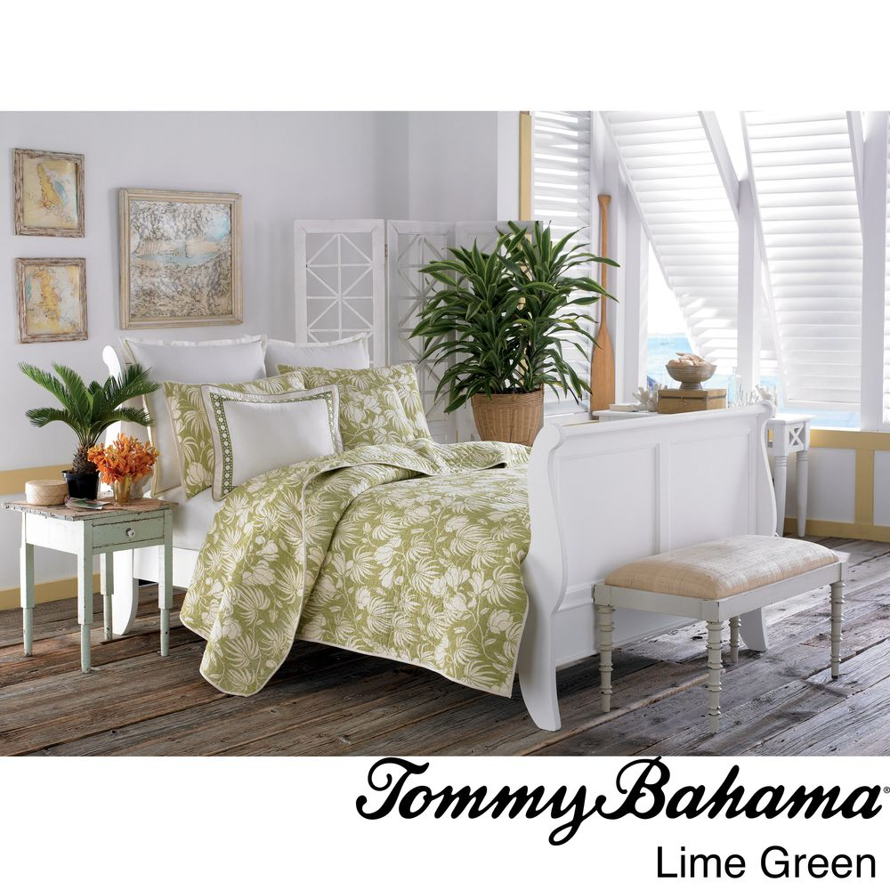 Tommy Bahama Plantation Floral 3-piece Quilt Set | Overstock.com Shopping - Great Deals on Tommy Bahama Quilts