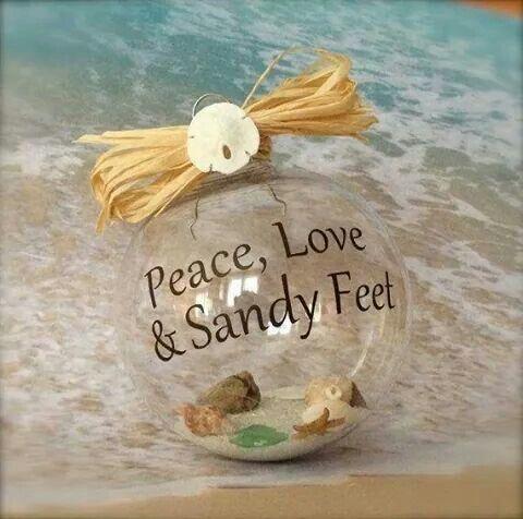 Peace, love  sandy feet Ocean Life Pinterest