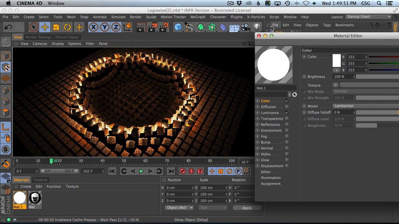 Cinema 4d tutorial How to Use The Mograph Shader Effector To