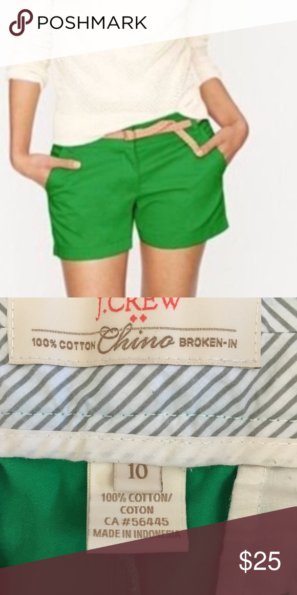 kelly green chino shorts