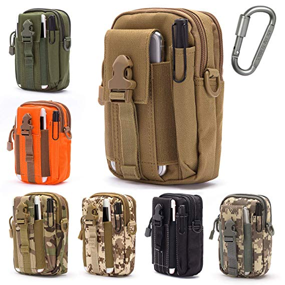 Men Outdoor Tactical Military Molle Pouch Belt Waist Pack Bag Phone Case KI