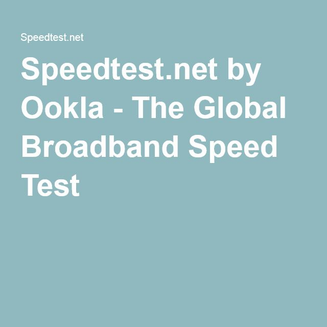 Speedtest.net by Ookla - The Global Broadband Speed Test