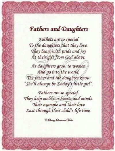Daddy And Daughter Poems Reminders Pinterest Dad Poems