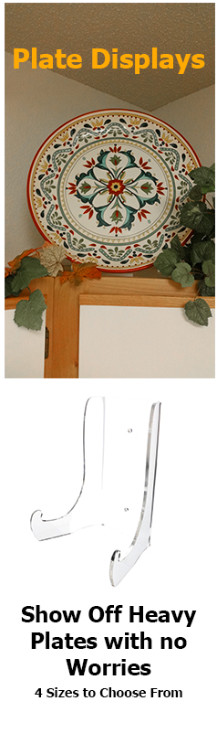 Display Heavy Plates with the 1/8\  thick clear acrylic plate stand!  sc 1 st  Pinterest & Display Heavy Plates with the 1/8\