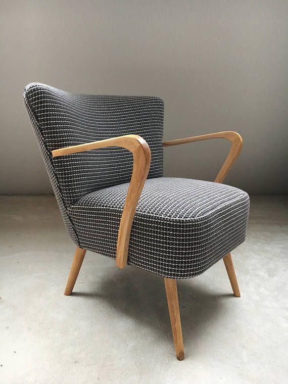 fauteuil cocktail vintage typique des annes 50 refait entirement neuf garnissage mousse hr sur sangles lastiques ce fauteuil sasso - Fauteuil Cocktail Vintage