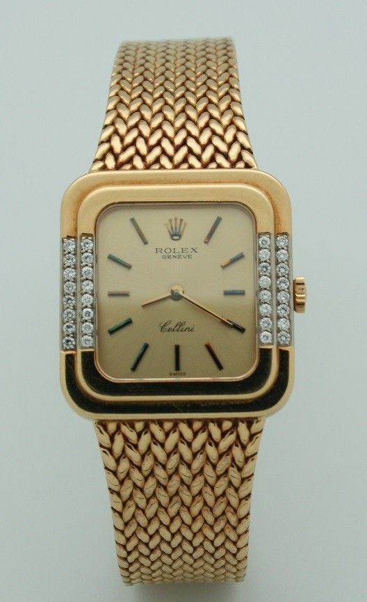 Montre Rolex Cellini Femme Mécanique or massif 18k diamants Paris  rolex   saralinka  bijoux  montres  vintage  paris  rare  jewels  ring  watches 7f1b3a622e4