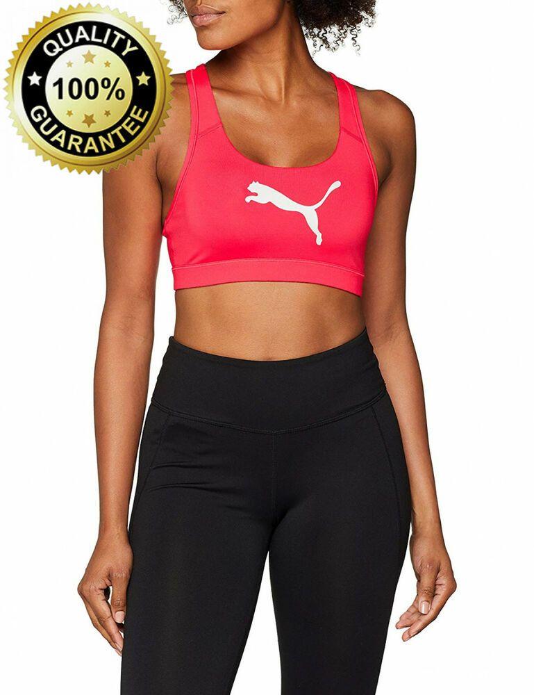 Puma Women's Pwrshape Forever Logo Sport Bra fashion