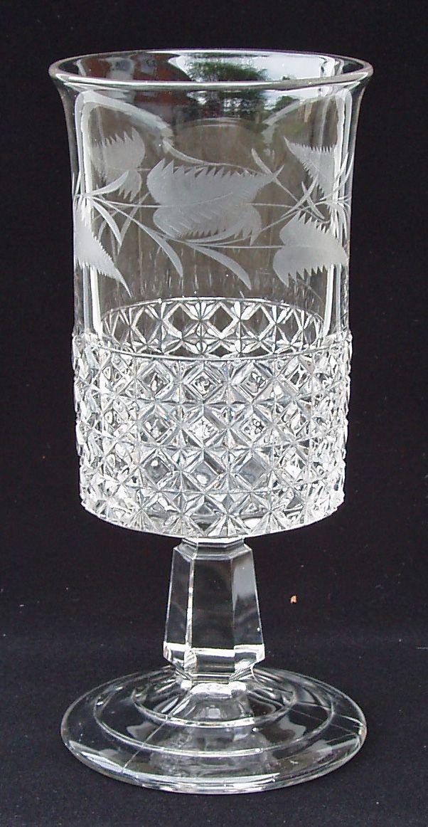 1885 Mascotte Celery Vase Pattern Glass Crystal Glassware