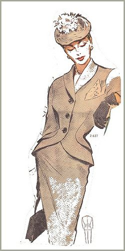 The 1950s 1950 Skirt Suit Vintage Dress Patterns Types Of Fashion Styles 1950s Fashion Women