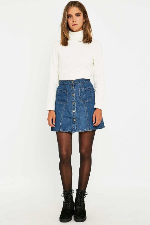 4a8cecd42 I've got a prettier denim A line and I'm just pinning this so I don't  forget that I can style it with a turtleneck thank you Sugarscape