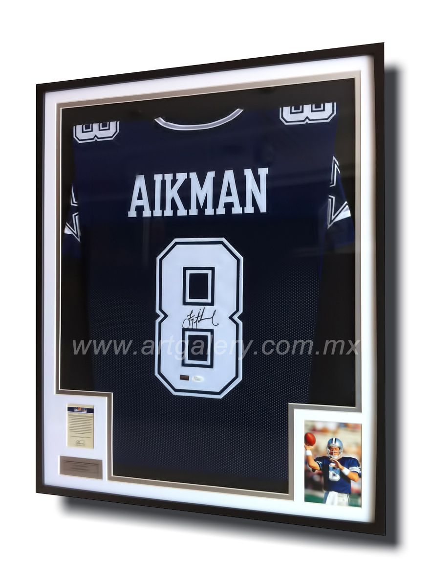 Troy Aikman certified and original Jersey signed and framed by www ...