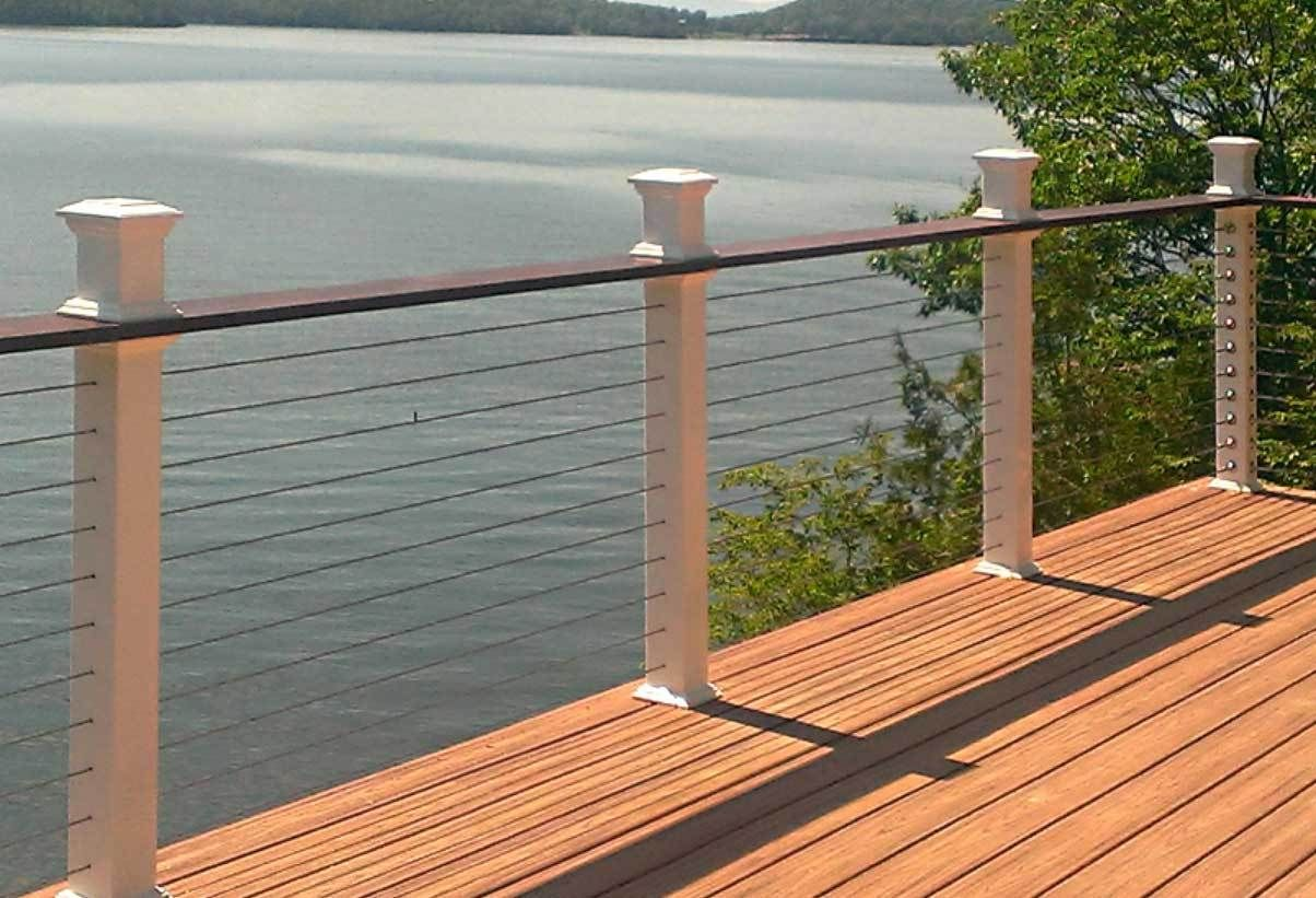 Image result for deck railing ideas   Cable railing deck ...