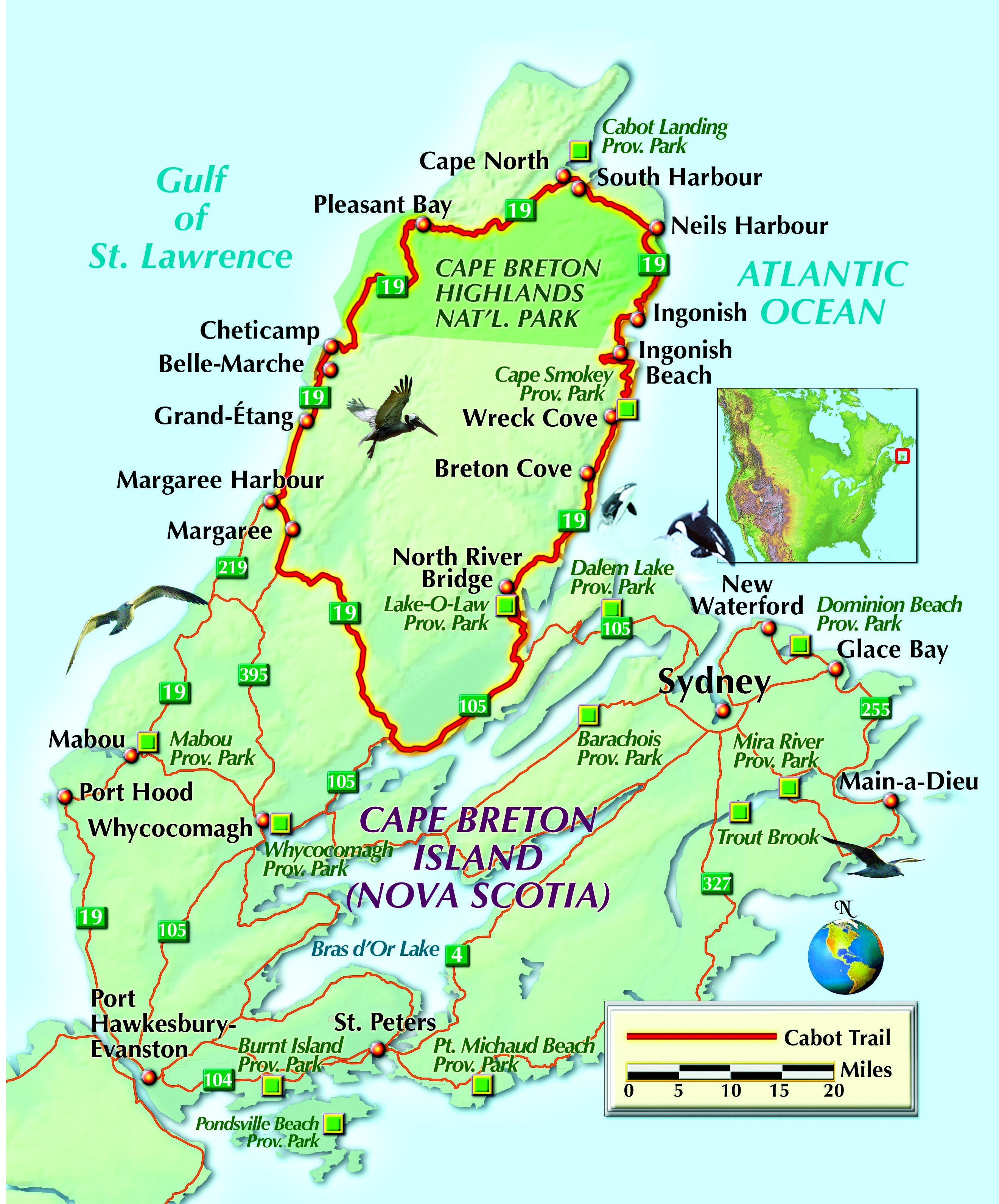Map Of Nova Scotia Canada Cabot Trail Pin on Motorcycle Touring Midwest/West
