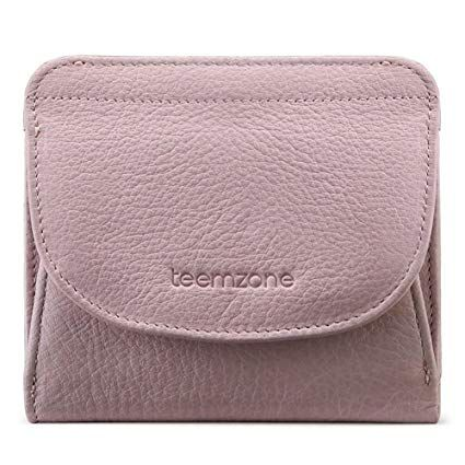 279351b60da596 Geldbörse Damen Klein Leder RFID Schutz mit Münzfach Mini Portemonnaie  Portmonee Brieftasche Frauen Geldbeutel Flache TEEMZONE