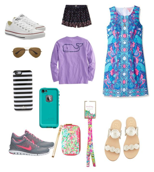 """""""Birthday wish list"""" by amypavon on Polyvore featuring Converse, Kate Spade, NIKE, Jack Rogers, Hollister Co., Lilly Pulitzer, LifeProof and Ray-Ban"""