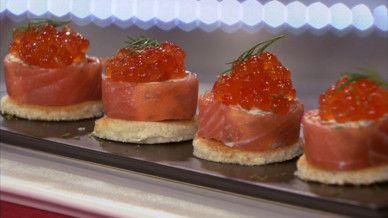 bouchées de saumon fumé au mascarpone et citron vert