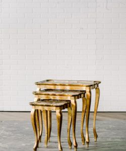 Elegant Josephine Nesting Tables, Maggpie Rentals, Philadelphia Wedding And Event  Rentals, Painted Gold Nesting