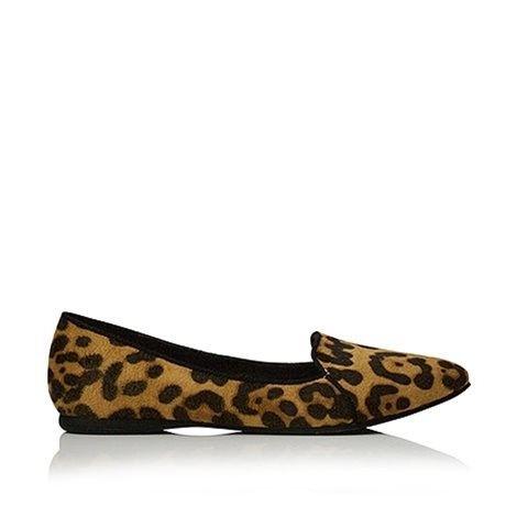 BILLINI Santana Ballet Flats Leopard Suede