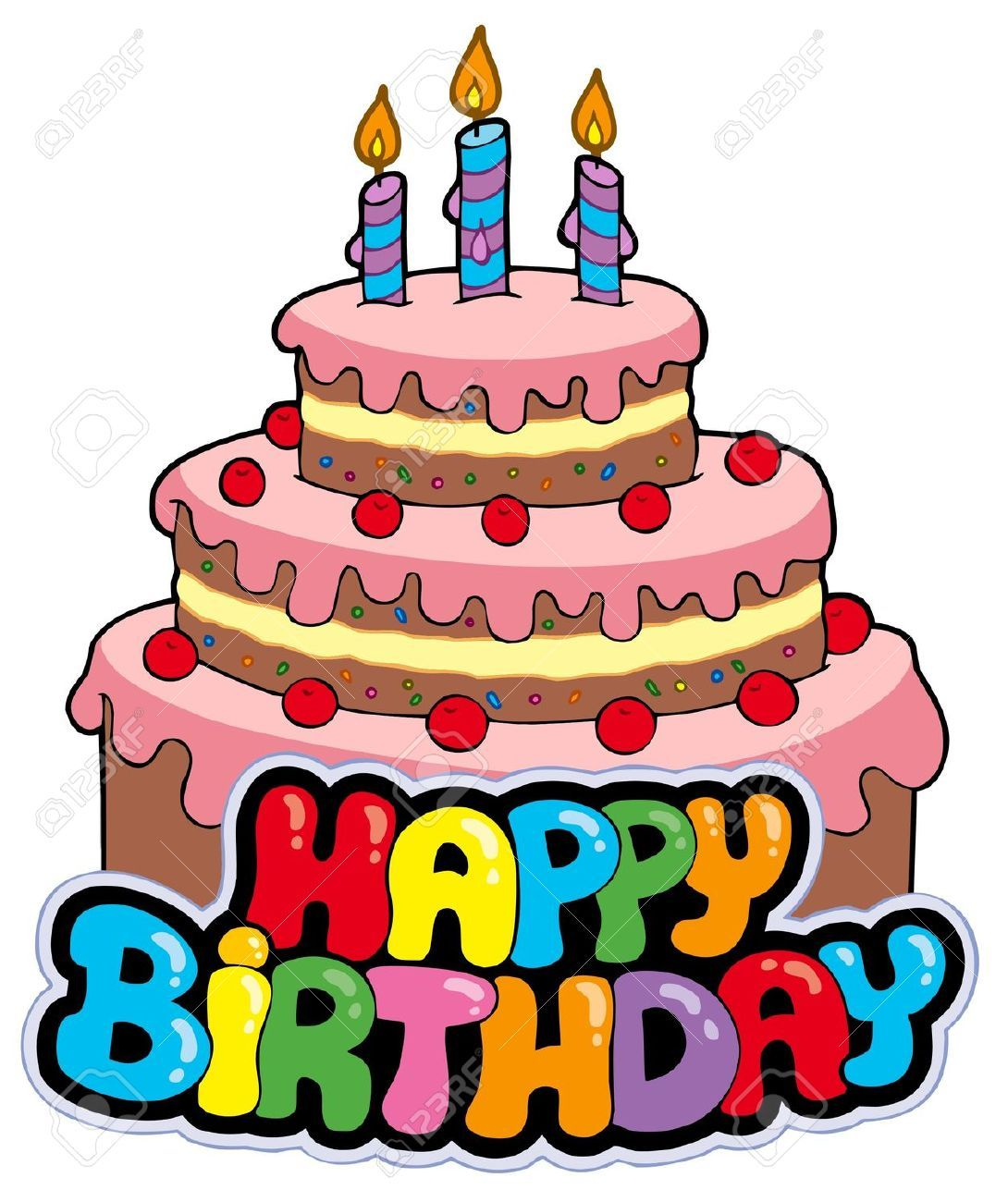 Vintage Birthday Candles Google Search Birthday Cake Clip Art Cartoon Birthday Cake Art Birthday Cake