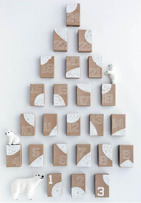 Adventskalender Selbst Gestalten  Einfache Bastelideen Für Weihnachten