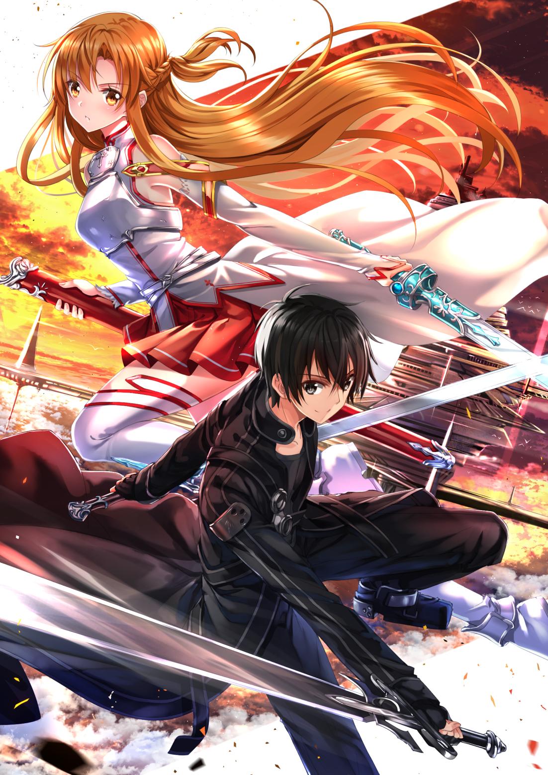 Yuuki Asuna And Kirigaya Kazuto Kirito Sword Art Online Anime Fanart By Swordsouls Sword Art Online Wallpaper Sword Art Sword Art Online Asuna