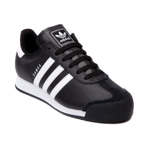 Shop for Tween adidas Samoa Athletic Shoe, Black White, at Journeys Shoes.  The Samoa from adidas is a soccer inspired sneaker featuring a leather  upper, ...